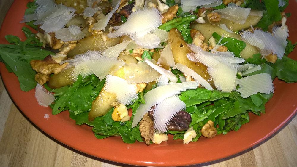 Рецепт салат из рукколы с грушей