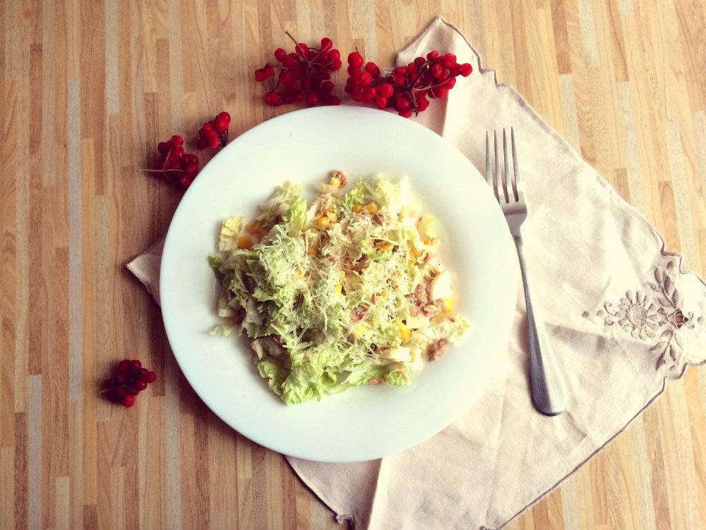 Диетический салат из тунца рецепт | 750x1000
