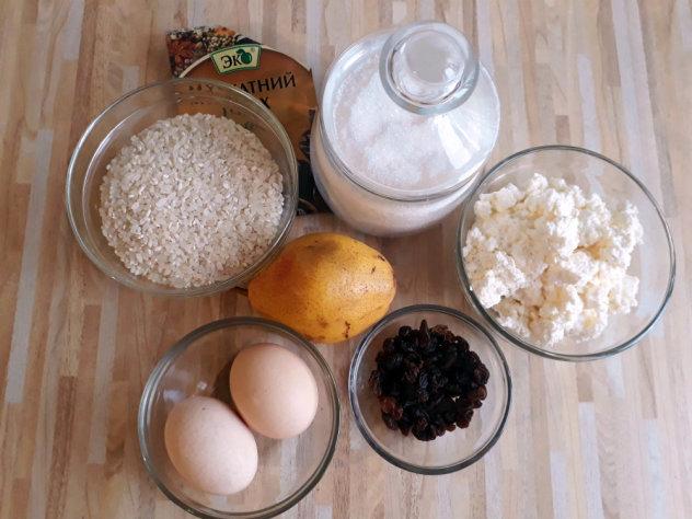 рисово-творожная запеканка