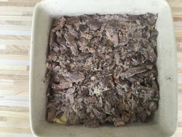 полента с грибами в духовке