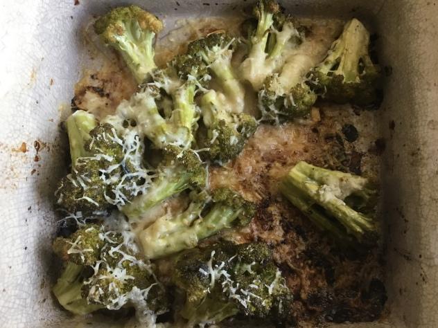 запеченная брокколи